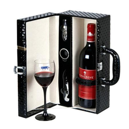 Nâng cao giá trị quà tặng rượu qua hộp đựng rượu da
